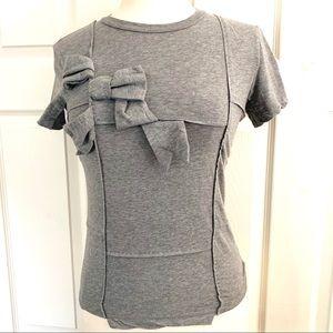 Moschino Grey Bow Shirt Size 4